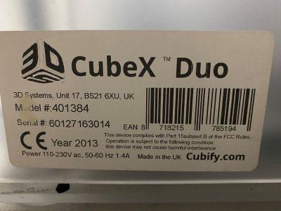 3D CubeX Duo 2013 Model